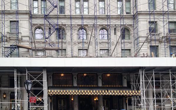 Plaza Hotel under construction