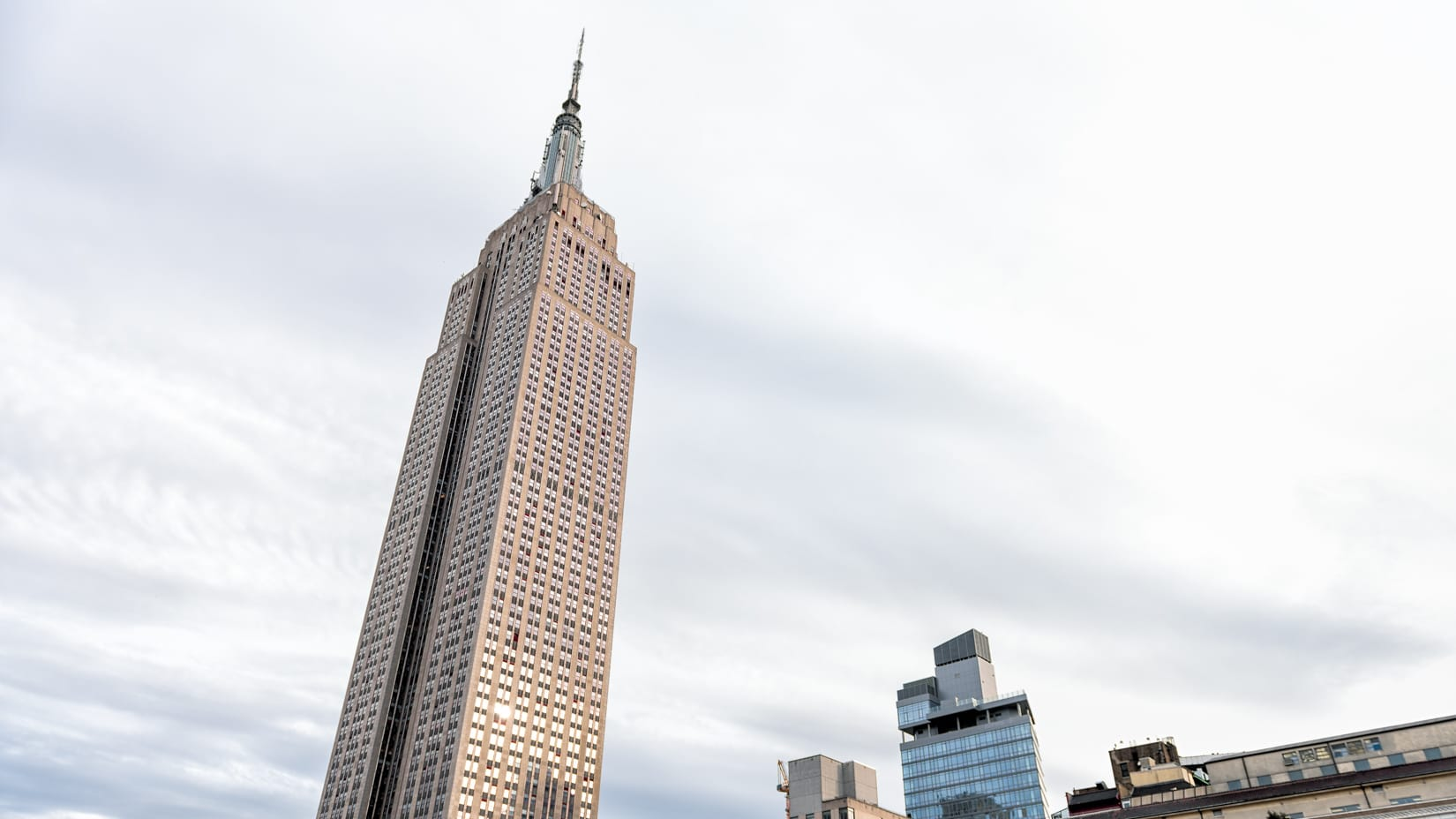 Empire State Building on a cloudy day